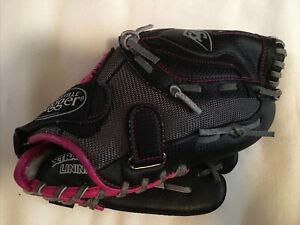 Louisville Slugger Youth Black Pink Baseball / Softball Glove DV14-HP 12 Inch