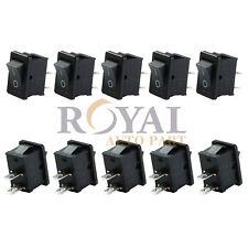 (10)Mini Rocker Switch ON-OFF 250V 6A /125V 10A  2-Pin Plastic Button