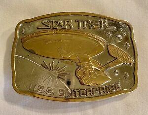 Vintage Star Trek belt buckle 1983 USS Enterprise 209th Anniversary