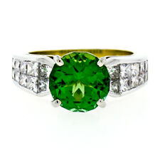 Christopher Designs 18k Gold Ring w/ 5.15ctw FINE GIA Green Tourmaline & Diamond