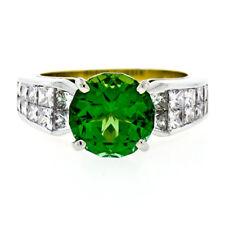 Christopher Designs 18k Gold Ring w/ 5.15ctw FINE GIA Green Tourmaline & Diamond