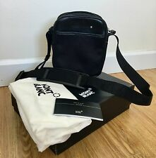 Montblanc BLACK NightFlight North South Mini Crossbody Messenger Bag with Zip!