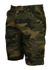 BNWT MENS BIG KING SIZE CAMO CARGO SHORTS FORGE GREY CAMO KHAKI COLOURS 28 -70