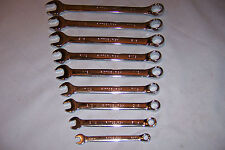 9 Pc SAE Fully Polished Combination Wrench Set with case / New / Free Shipping