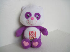 "Care Bears Cousins POLITE PANDA 9"" Purple Plush Stuffed Animal"