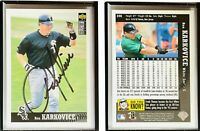 Ron Karkovice Signed 1997 Collector's Choice #298 Card Chicago White Sox Auto