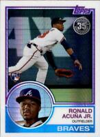 2018 Topps Update Baseball 1983 83 Chrome Silver Pack Singles (Pick Your Cards)