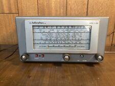 Vintage Hallicrafters Model S-38D Ham Radio. Turns On