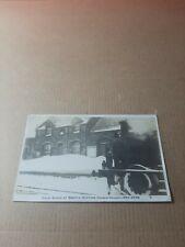 More details for old rp postcard.  snow block at bootle station dec 1908. l/330