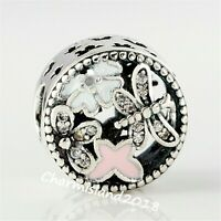 Authentic Pandora Charm 791842 Silver 925 Springtime Mixed Enamels & Clear Bead