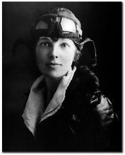 Amelia Earhart in Flight Gear - Remastered 8 x 10 Photo (B & W)