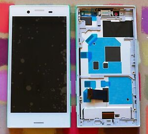 GENUINE WHITE SONY XPERIA X COMPACT F5321 HD IPS LCD DISPLAY with FRAME