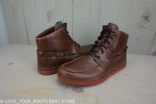 UGG BAYNE GRIZZLY BROWN LEATHER VIBRAM SOLE DESERT BOOTS MENS US 9.5 NIB