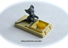 Mouse on a Trap, Dolls House Miniature Pets & Animals 1/12 scale Rodent
