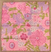"Vera Neumann Pink Floral Silk Scarf Scarf 21"" x 21"" 100% Silk - Beautiful!"