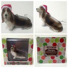NIB Sandicast Basset Hound Dog Christmas Ornament Figurine Figure