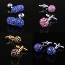 Crystal Spherical Cufflinks for Men