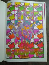 "Rare Vintage 1969 Peter Max-""GLOVES"" Psychedelic Art Poster~MINT CONDITION"