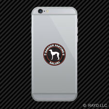 Danger Farting Saluki Cell Phone Sticker Mobile Die Cut