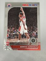 Admiral Schofield 2019-20 Panini NBA Hoops Premium Stock Rookie RC #243 Wizards
