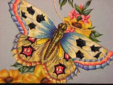 Exotic Butterfly insect floral print of painting