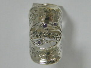 New SHABLOOL Ring Handmade Jewelry Purple Amethyst 925 Sterling Silver