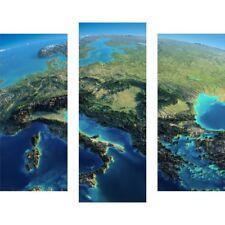 Deko-wandbilder mit Weltkarte mit Grafik & Druck