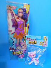 Barbie Princess Power Lot 1 Dolls and 1 Pet Cat New!