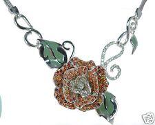 Menegatti Solid 925 Sterling Silver Flower Necklace '