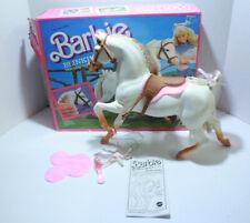 Blinking Beauty Horse For Barbie Doll 1987 w/ Box White Brown Blink Eye Saddle