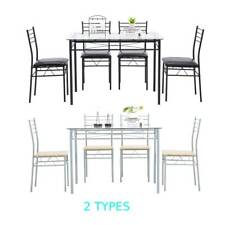Hot 5 Piece Grass Dining Table Set 4 Chairs Kitchen Breakfast Furniture 2 Type