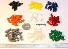 "Multicolor Vinyl Caps Push On Pliable Plastic 1/8"" Inner Diameter 54 pc Colors"