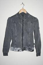 O'Neill Fashion Designer Women's Jacket Zipped Jumper Grey 100% Cotton Size XS