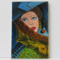 "MARIA MURGIA - ""Figura"" - Olio su tela cm 30x20  + ARCHIVIO"