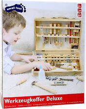 Werkzeugkoffer Holzkoffer 48 Teile viel Werkzeug ab 8 Jahre ca. 37 x 29 x 8,5 cm