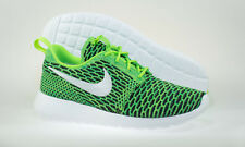 Nike Mens Womens Roshe One Flyknit Trainers Shoes Green UK9 US11 704927 305 NEW