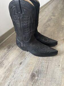 Stiefel, Western, Biker, SANCHO, Style 5119 schwarz, Gr. 42
