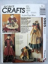McCall's Crafts Sewing Pattern 5985 BUNNY COVER-UPS Vacuum Sewing Machine DRAFTS