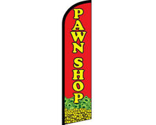 Pawn Shop Red / Yellow Windless Banner Advertising Marketing Flag