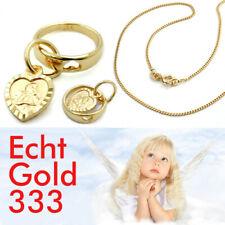 Baby Taufe gestanztes Herz im Ring Schutzengel Taufring Echt Gold 333 Gelbgold