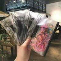 100x Girl Kids Elastic Rubber Hair Ties Band Ropes Ponytail Holder Scrunchie AU