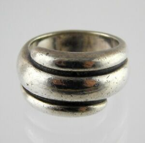 Retired James Avery Sterling Silver Triple Dome Wrap Ring 925 11.7 Gram Size 6.5