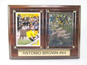Antonio Brown Pittsburgh Steelers Wood Mural 7 7/8in, Plaque NFL Football