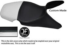WHITE & BLACK AUTOMOTIVE VINYL CUSTOM 01-07 FITS BMW F 650 GS DUAL SEAT COVER