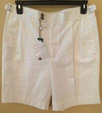 Loro Piana White Pleated Shorts w/ Buckle detail Men's Size EU 52 US 34 Italy
