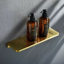 "12"" Bathroom Shelf Brass Gold Bath Shower Shelf Basket Caddy Rustproof Square"