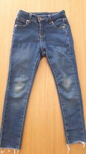 Seed girls size 5 navy stretch denim jeans