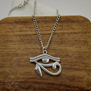 Unisex Eye of Horus Pendant Necklace - Ancient Egyptian Eye - UK Stock