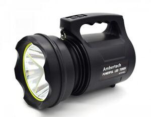 Ambertech 10000 Lumens Lanterne robuste Torche LED puissante Lampe de poche...