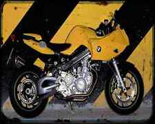 Bmw F800S 08 A4 Metal Sign Motorbike Vintage Aged